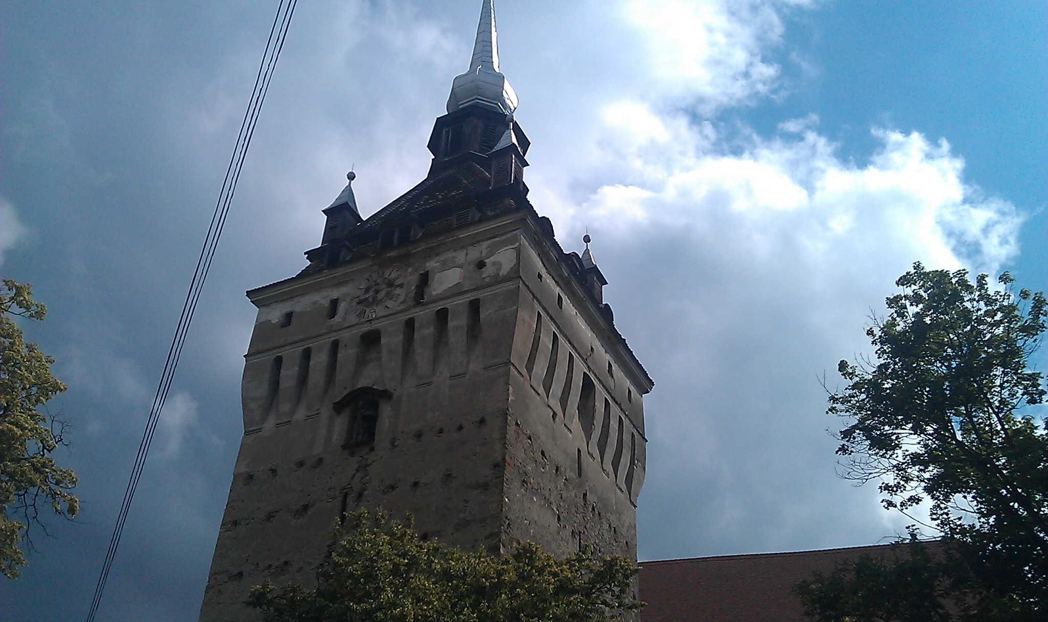 Turnul bisericii de la Saschiz