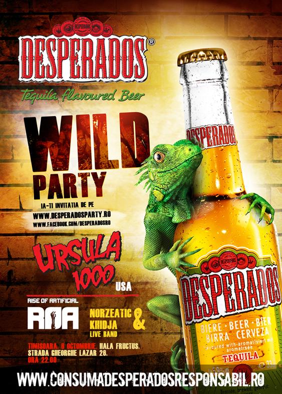 poster party desperados timisoara
