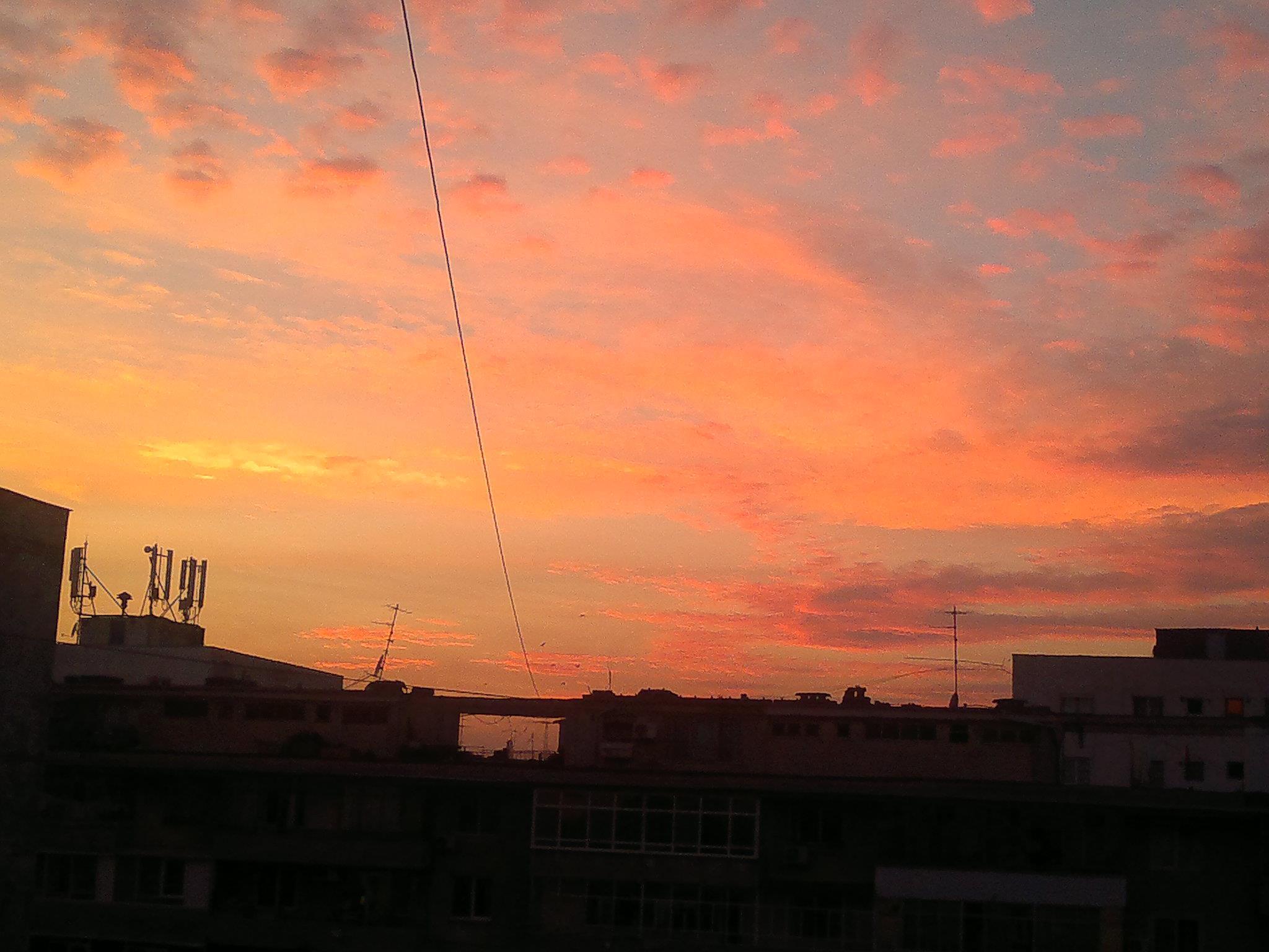 Apus de soare la Bucuresti
