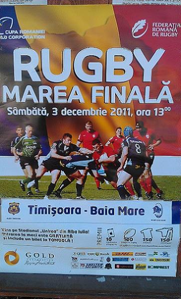 Afis Timisoara vs Baia Mare rugby